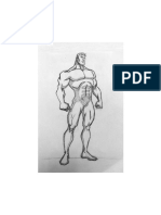 Superhero Body Template