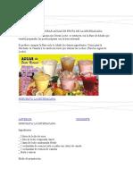 258696813 Recetas Para Elaborar Aguas de Fruta de La Michoacana