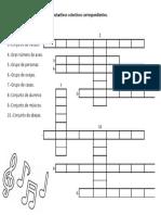 Completa El Crucigrama Con Los Sustantivos Colectivos Correspondientes