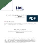 Hoyaux. La France. Une GA Ographie Urbaine Chap. 4. La PensA e GA Ographique de La Ville Et de l Urbain en France