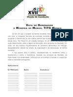 VotodeHomenagem a Tito Morais