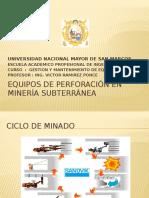 EQUIPOS DE PERFORACION EN MINERIA SUBTERRANEA(1) (1)12-9-16.pptx