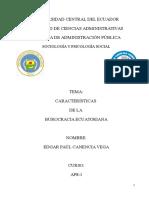 Ensayo de La Burocracia en El Ecuador