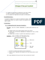 Cours Mecanisme d'Absorbtion d'Eau+ QCM