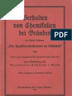 Verhalten von Chemikalien bei Bränden - Hans Dersin - 1936