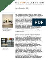 Armleder John painter Kunstler works  and life in German