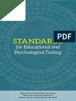 AERA, APA & NCME (2014). Standars for Educational and Psychological Testing