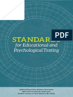 AERA, APA & NCME (2014). Standars for Educational and Psychological Testing