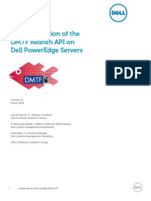 Dell PowerEdge Redfish API Overview | Representational State