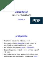 Vibhakti Sanskrit