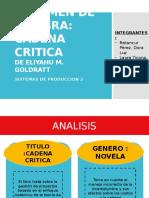 Analisis Libro Cadena Critica