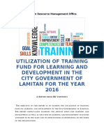 Utilization of Training Fund for Learning and Development of in the City Government of Lamitan