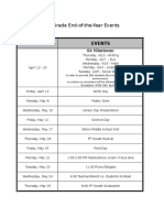 end of the year events calendar