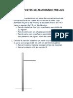 Diseño de Postes de Alumbrado Público