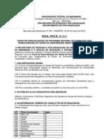 Edital Especializacao Una Sus Psf