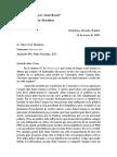 Carta escrita por Juan Bosch a Julio César Martínez