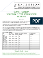 South Florida Vegetable Pest and Disease PDHotline  for April 11, 2017