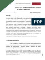 Celebração e Integração Dos Tratados Internacionais Do D Brasileiro