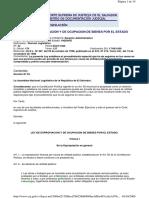 Ley Expropicacion y Ocupacion de Bienes Por El Estado 1998