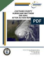 After Action Report Dr 4284 Hurricane Matthew Final Emergency
