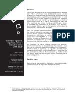 Vigilancia, Seguridad Privada y Manejo de Armas, Caso de Colombia