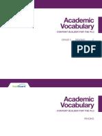 academic vocab elar gr 05