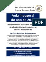 Cartaz Aula Inaugural 2017
