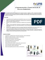 Información Dicaprio instrumentación y control de procesos