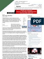 Editorial - The Google Algorithm - NYTimes