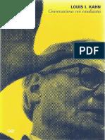 101241770 Conversaciones Con Estudiantes Louis i Kahn