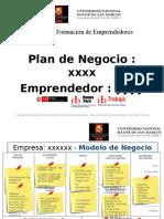 Formato Para Sustentacion de Planes Para Emprendedores