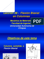 Flexión biaxial