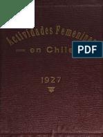 actividades femeninas en chile sara guerín (1927, 50 años decreto amunategui)