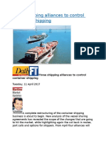 Three shipping alliances to control container shipping.docx
