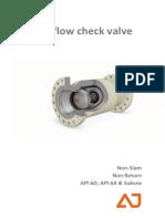 Axial Flow Check Valve
