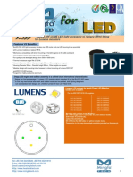BuLED-50F-LUME LED Light Accessory to Replace MR16 Fitting for Lumens Modulars