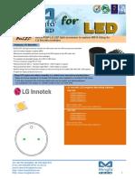 BuLED-50F-LG LED Light Accessory to Replace MR16 Fitting for LG Innotek Modulars