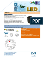 BuLED-50E-VOS LED Light Accessory to Replace MR16 Fitting for Vossloh-Schwabe Modulars