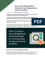 Cómo Recuperar Citas Bibliográficas Contextualizadas en Tus Búsquedas de Documentación Científica