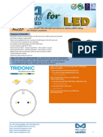 BuLED-50F-TRI LED Light Accessory to Replace MR16 Fitting for Tridonic Modulars