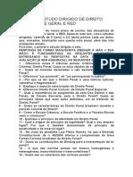 Primeiro Estudo Dirigido de Direito Penal Parte Geral e Red