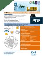 EtraLED-BRI-13020 Bridgelux Modular Passive Star LED Heat Sink Φ130mm