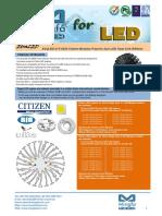 EtraLED-CIT-8520 Citizen Modular Passive Star LED Heat Sink Φ85mm