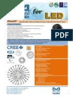 EtraLED-CRE-11020 Cree Modular Passive Star LED Heat Sink Φ110mm