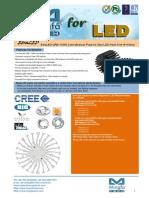 EtraLED-CRE-11050 Cree Modular Passive Star LED Heat Sink Φ110mm