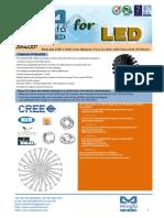 EtraLED-CRE-13020 Cree Modular Passive Star LED Heat Sink Φ130mm