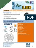EtraLED-CRE-130100 Cree Modular Passive Star LED Heat Sink Φ130mm
