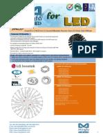 EtraLED-LG-9620 LG Innotek Modular Passive Star LED Heat Sink Φ96mm