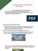 Meteorización de Rocas y Formacion de Suelos