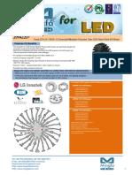 EtraLED-LG-11020 LG Innotek Modular Passive Star LED Heat Sink Φ110mm